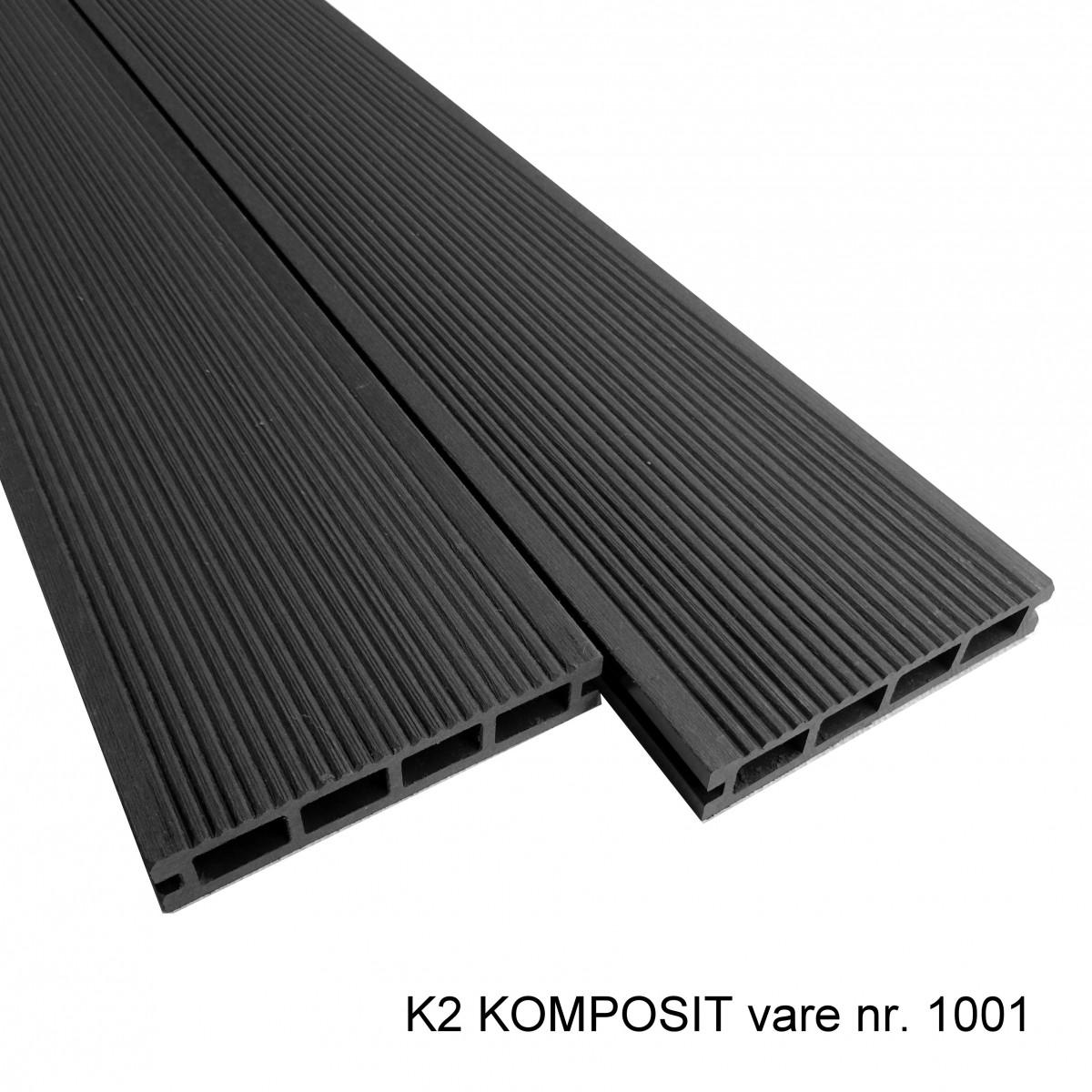 Picture of: K2 Komposit Terrassebraedder Grasort S 25x135x2220 Mm Borstet Rillet Glat K2 Komposit