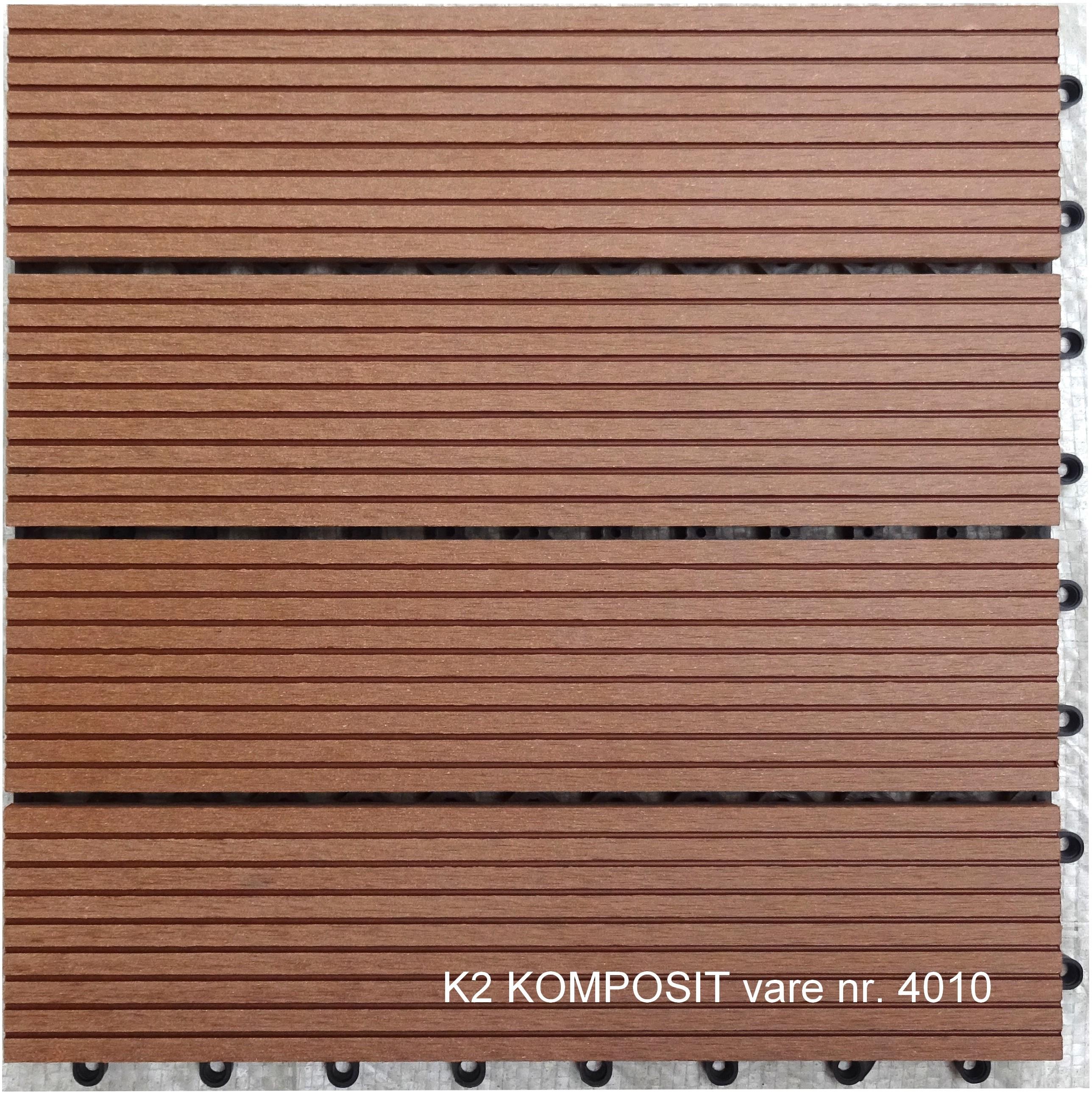 Picture of: K2 Komposit Klik Terrassefliser Teak 300x300x22 Mm K2 Komposit