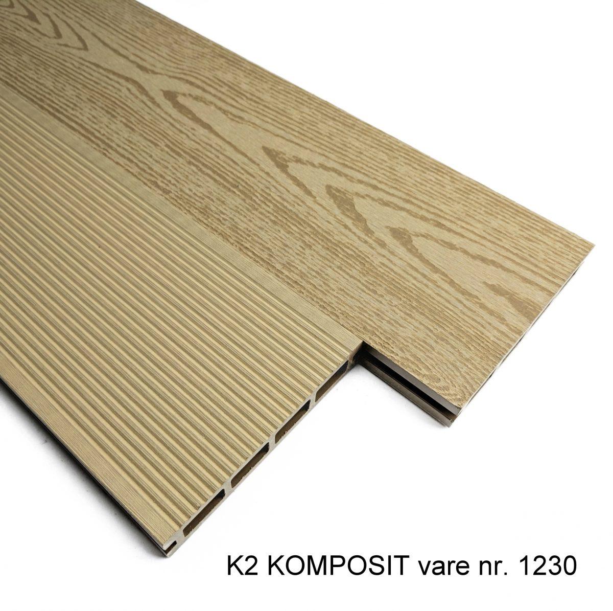 Picture of: K2 Komposit Terrassebraedder Lys Eg Sw 25x150x2220 Mm Borstet Rillet Glat Traestruktur K2 Komposit